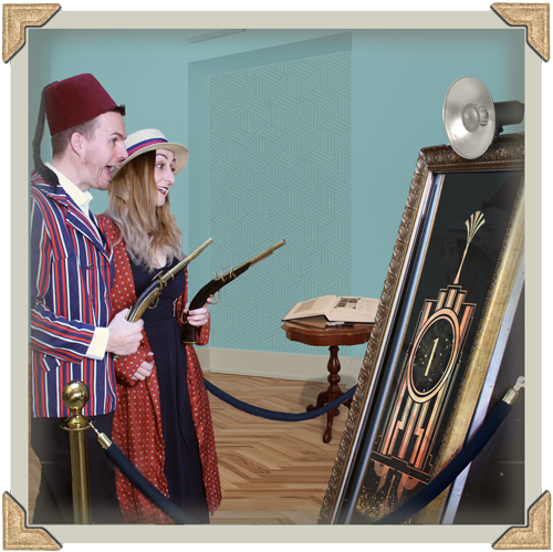 Magic Mirror Hire Prices - Guests enjoying the magic mirror at gatsby wedding